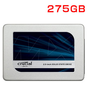 クルーシャル Crucial 275GB MX300 2.5インチ内蔵SSD 3D TLC CT275MX300SSD1