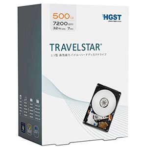 HGST Travelstar 500GB 2.5インチ 7mm 0S03620