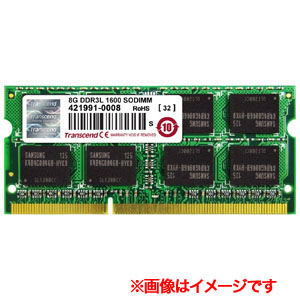 トランセンド Transcend SODIMM DDR3L PC3-12800 8GB TS1GSK64W6H