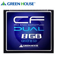 グリーンハウス(GreenHouse) 【CF 8GB】GH-CF8GD【233倍速 37MB/s】