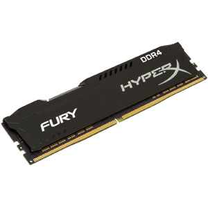 キングストン Kingston 4GB 2666MHz DDR4 CL15 DIMM HyperX FURY Black HX426C15FB/4