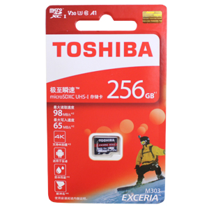 東芝【海外パッケージ】 【microSDXC 256GB】THN-M303R2560C4【UHS-1】Read Speed98MB/s Write Speed65MB/s アダプタなし