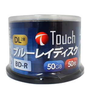 Touch BR50DVPW50SP4 BD-R 50GB 4倍速 50枚