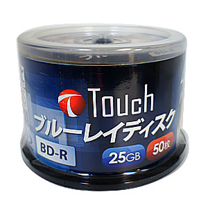 Touch BR25SVPW50SP4 BD-R 25GB 4倍速 50枚