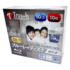 Touch BR50DVJW10S6 BD-R 50GB 6倍速 10枚