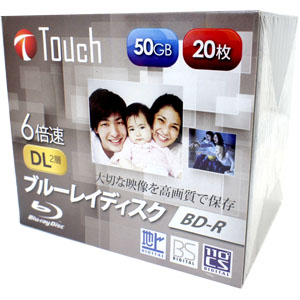 Touch BR50DVJW20S6 BD-R 50GB 6倍速 20枚