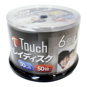 Touch BR50DVJW50SP6 BD-R 50GB 6倍速 50枚