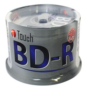 Touch BR25DPW50SP BD-R BDR 25GB 6倍速 50枚