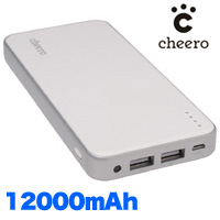 チーロ cheero モバイルバッテリー 12000mAh CHE-050 cheero Energy Plus 12000mAh