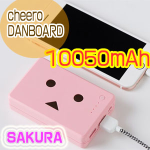 チーロ cheero モバイルバッテリー cheero Power Plus 10050mAh DANBOARD version - FLOWERS - SAKURA CHE-066-SA