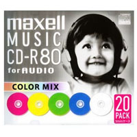 MAXELL CDRA80MIX.S1P20S (CD-R 700MB 20枚)【音楽用】