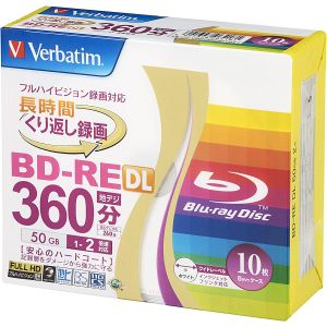 三菱 Verbatim VBE260NP10V1 BD-RE BDRE DL 50GB 2倍速10枚
